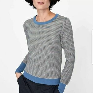 Zara textured knit sweater